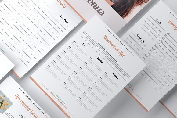 E-course Workbook / Opt-in Template in Magazine Templates - product preview 10