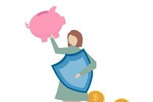 Illustration of financial insurance