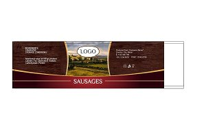Label for Sausages Quinto