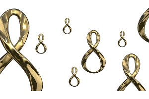 8 March symbol. Figure of eight made