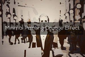 Minimal Painting Orange Effect