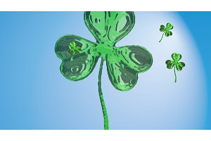 St. Patrick's Day 3d effect clover