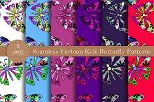 Seamless Cartoon Butterfly Pattern