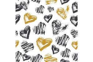 Seamless Heart Pattern.