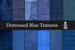 Distressed Blue Textures