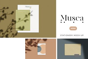 Musea Mini Stationery Mockup