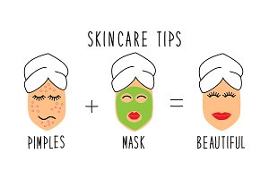 Cute and simple skincare tips for