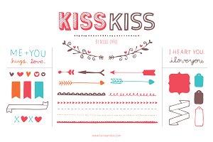 Kiss Kiss (Clipart)