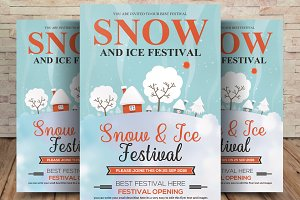 Snow And Ice Festival Flyer