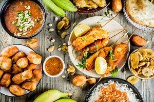 West african food assortment