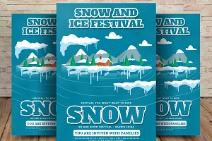Snow & Ice Festival Flyer Template