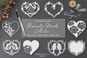 Romantic Hearts Collection - Vector
