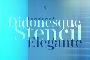 Didonesque Stencil Elegante Fonts
