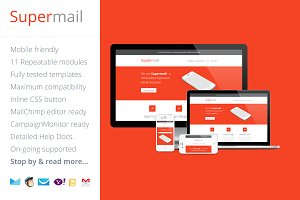 Supermail, Responsive Email Template