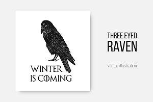 The Three-Eyed Raven illustration