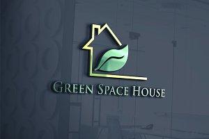 Green Home Logo Template