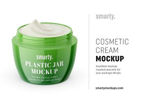 Cosmetic cream mockup / opened