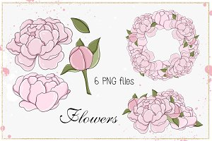 "Clip Art ""Flowers"""