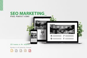 SEO Marketing Icon Set