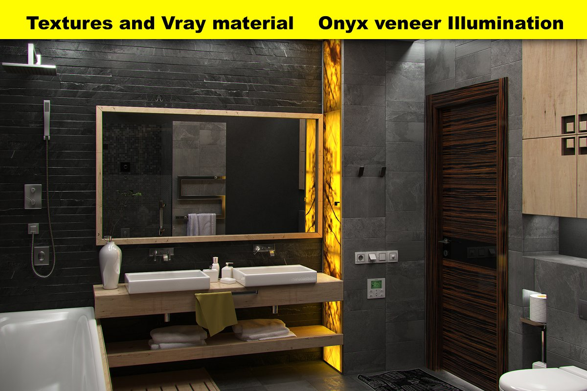 Backlit onyx Vray material