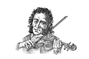 Man plays the violin. Musician