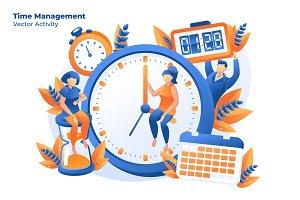 Time Management -Vector Illustration