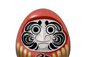 Daruma, a traditional Japanese doll