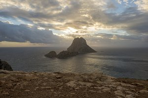 Sunset on the island of Es Vedra