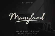 Manyland - Handwritten Font by  in Script Fonts