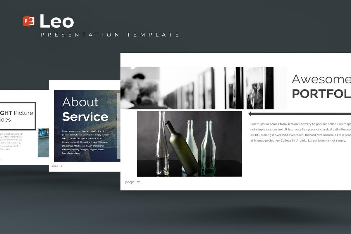 Leo Powerpoint Template Presentation Templates Creative Market