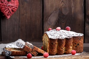traditional Christmas cake stollen