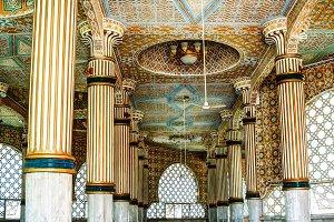 Iinterior of Touba Mosque , center o