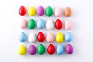 Colorful easter egg pattern