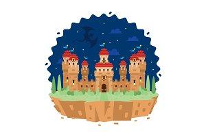 Fantasy Castle Building Clipart