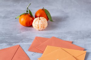 Stationery: pen and envelopes