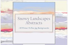 Winter Landscape Abstracts Set