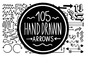105 Hand Drawn Vector Arrows
