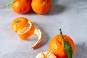 Citrus fruit: clementines