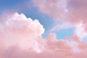 Pink sky clouds
