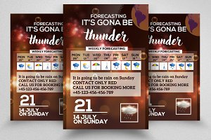 Weather Forecasting Flyer Templates