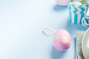 Easter concept background with