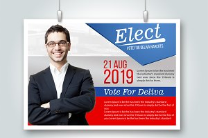 Voting Psd Vertical Flyer Templates