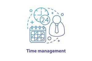Time management concept icon