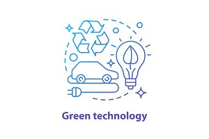 Green technology concept icon