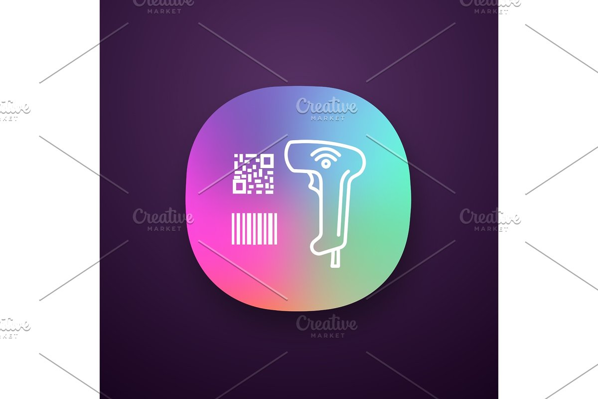 Barcode and QR code scanner app icon