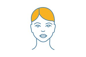 Woman face color icon
