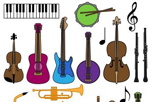 Musical Instrument Clipart & Vectors