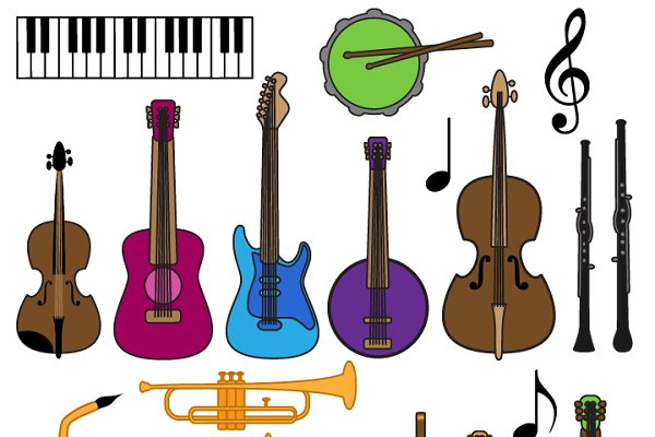 Musical Instrument Clipart & Vector…