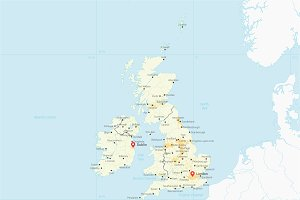 Map of the United Kingdom & Ireland