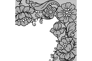 Lace ornamental background with